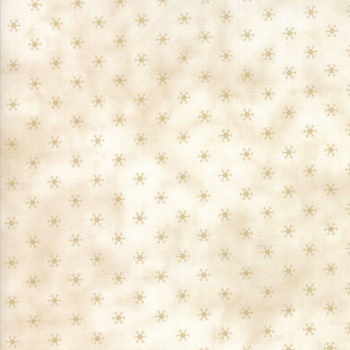 Snowman Gatherings III by Primitive Gatherings - Seasonal Winter Snowflakes - Tallow Tan - Moda 1216 12