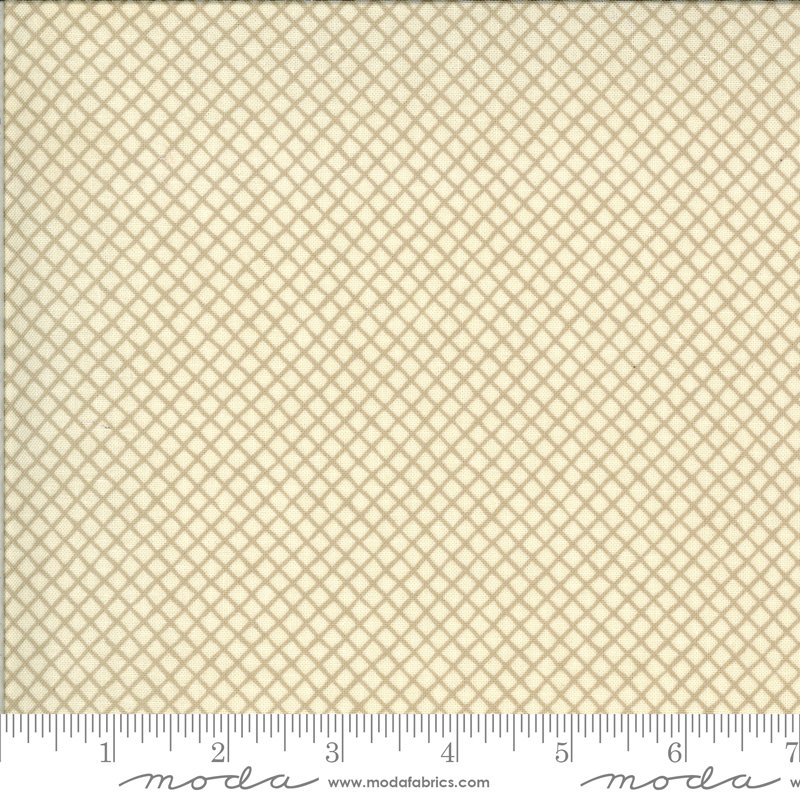 La Rose Rouge by French General - Grid - Natural - Moda 13888 16