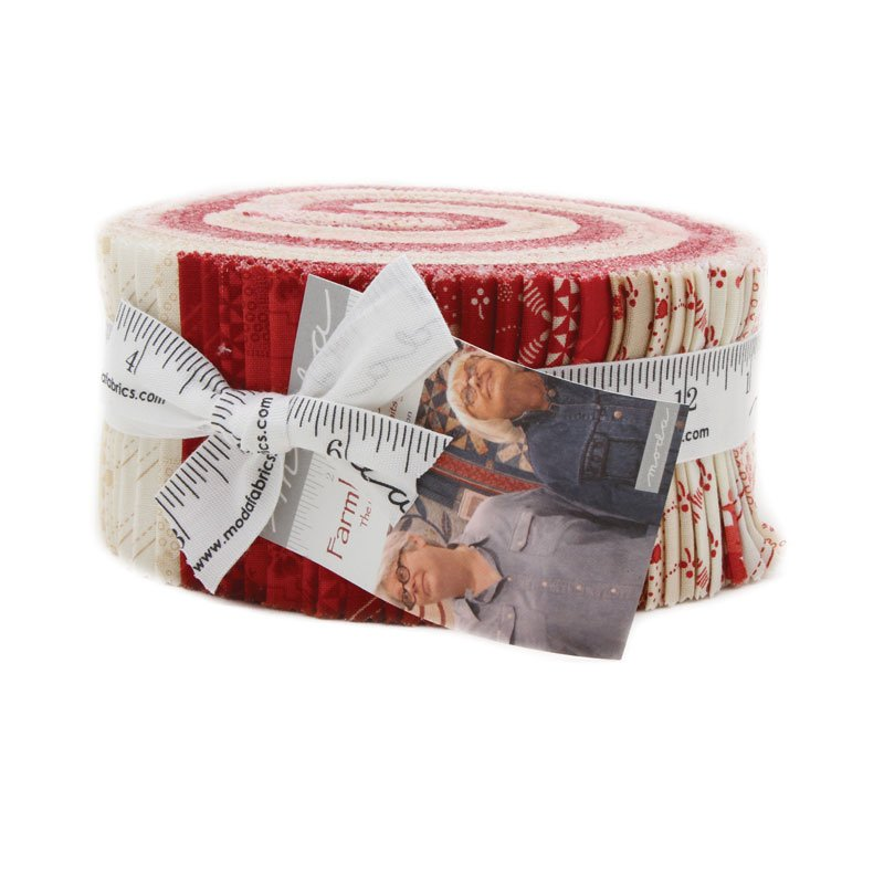 Farmhouse Reds by Minick & Simpson - Jelly Roll - Moda 14850JR