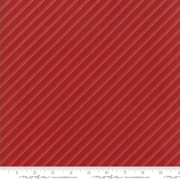 Farmhouse Reds by Minick & Simpson - Bias Stripe - Red  - Moda 14853 11
