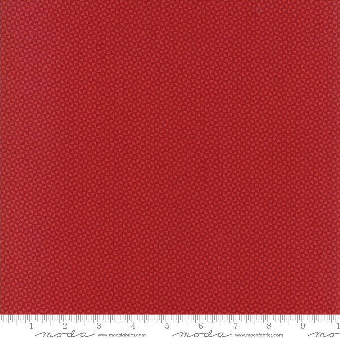 Farmhouse Reds by Minick & Simpson - Floral Triangles - Red  - Moda 14854 11