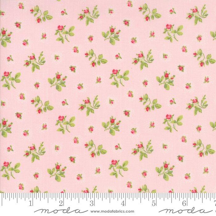 Caroline by Brenda Riddle - Floral - Rosebuds - Pink - Moda 18653 13