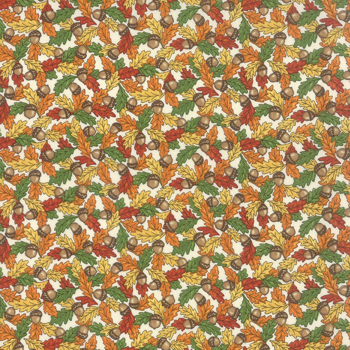 Forest Fancy by Deb Strain - Fall Acorns Leaves Natural - Moda 19713 16