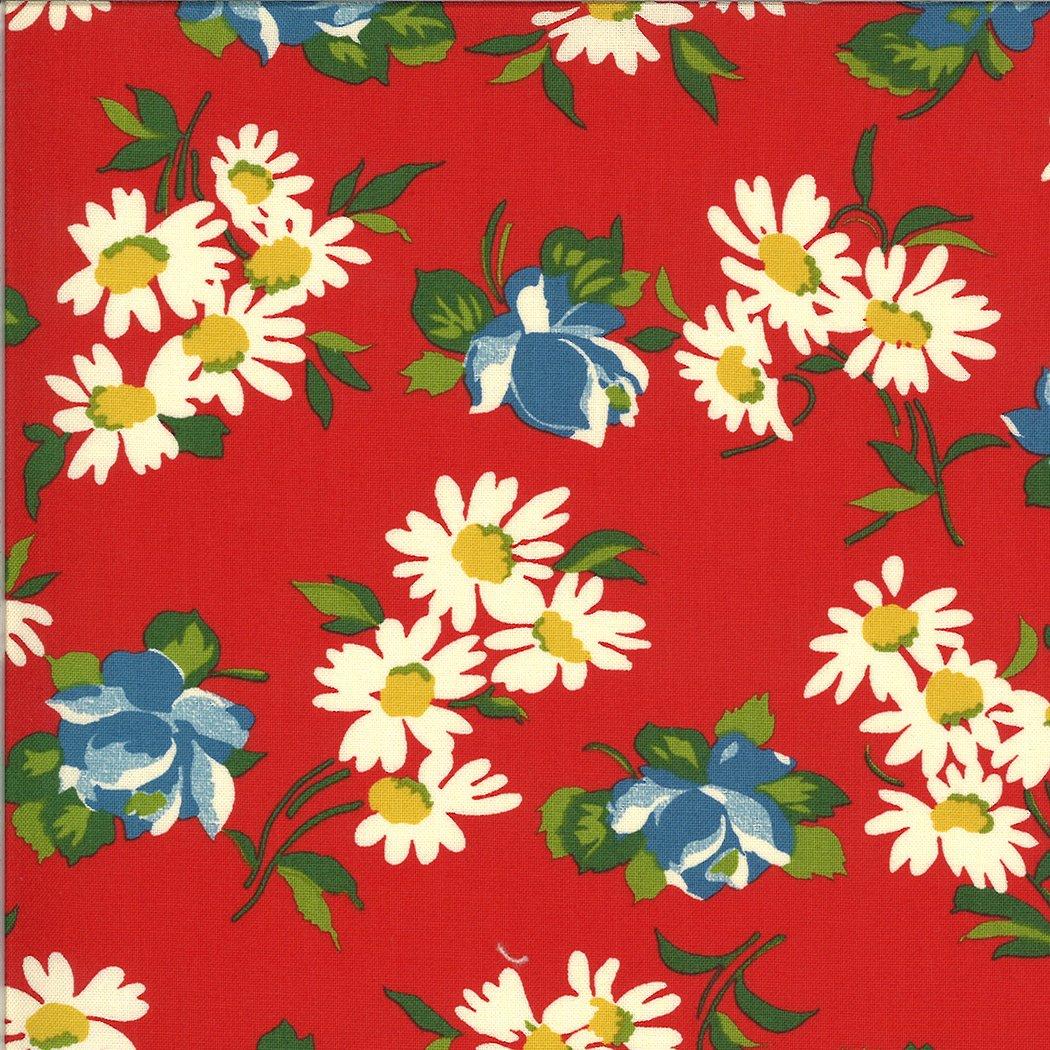 It's Elementary  by American Jane - Flowers - Red - Moda 21783 12