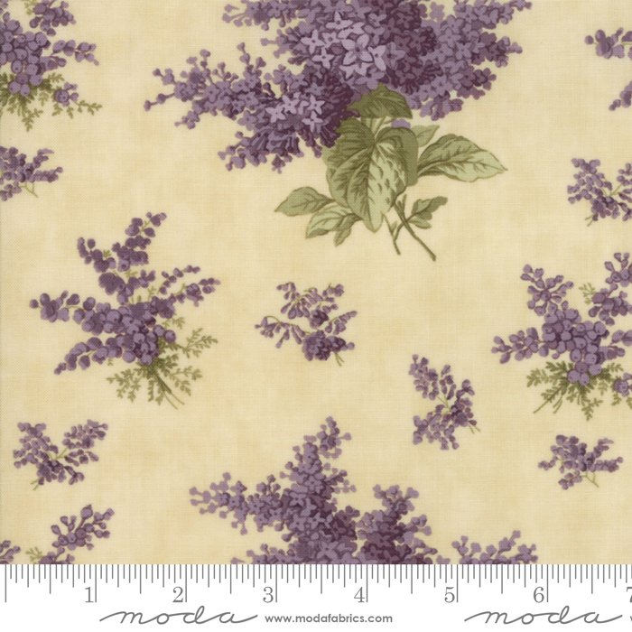 Lilac Ridge by Jan Patek - Floral - Lilacs - Cream - Moda 2210 11