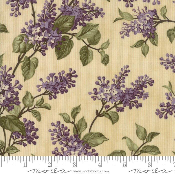 Lilac Ridge by Jan Patek - Floral -  Lilac Bush - Cream - Moda 2211 11