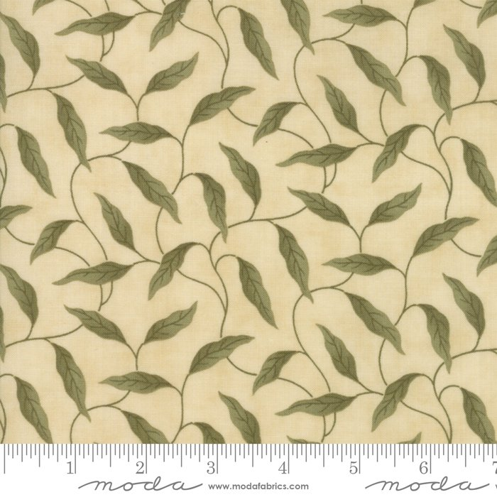 Lilac Ridge by Jan Patek - Floral -  Leaves - Cream - Moda 2213 11