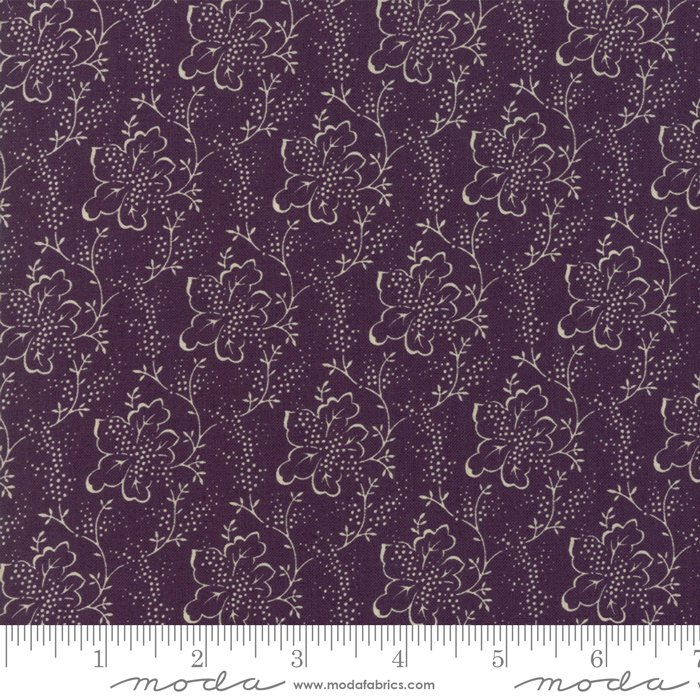 Lilac Ridge by Jan Patek - Floral -  Etched Leaves - Purple - Moda 2214 16