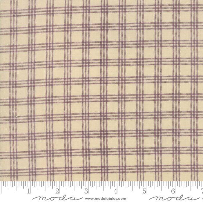 Lilac Ridge by Jan Patek - Floral -  Plaid - Cream/Lilac - Moda 2215 11