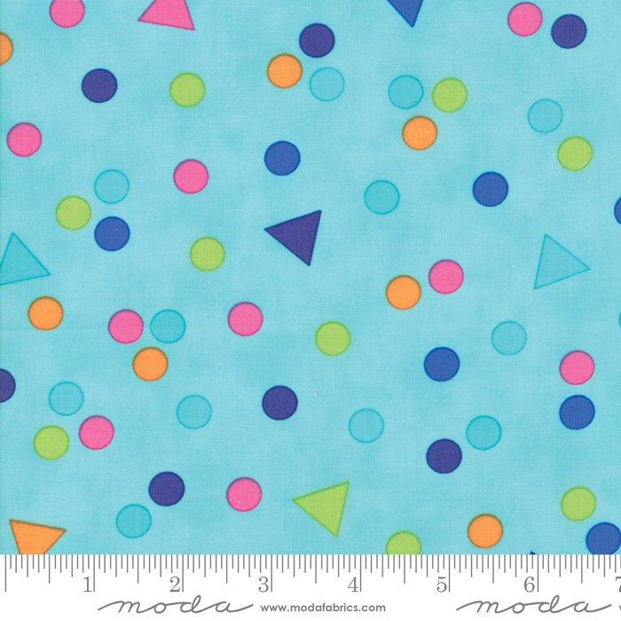 Confetti by Me and My Sister - Crazy Confetti - Aqua - Moda 22324 14