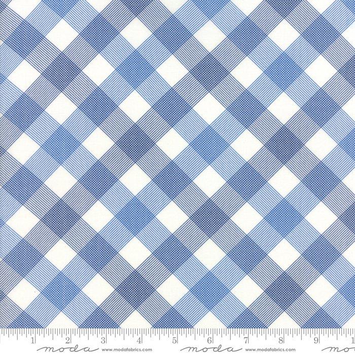 Feed Sacks - True Blue by Linzee Kull McCray - Reproduction On Point Plaid - Dark Blue - Moda 23301 22