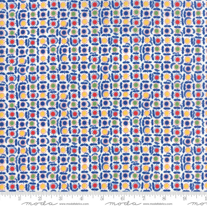 Feed Sacks - True Blue by Linzee Kull McCray - Reproduction Dot Bloom - Multi - Moda 23307 11