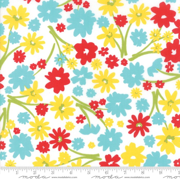 Mama's Cottage by April Rosenthal - Flower Patch - Vanilla Fruity Multi - Moda 24050 21