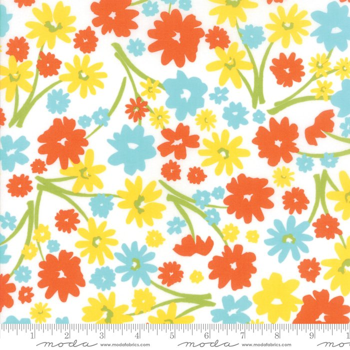 Mama's Cottage by April Rosenthal - Flower Patch - Vanilla Citrus - Moda 24050 26