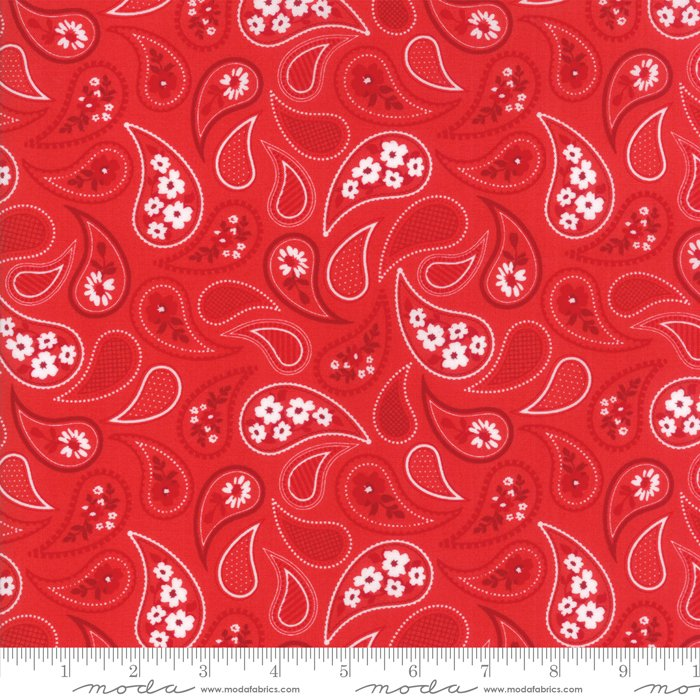 Mama's Cottage by April Rosenthal - Paisley - Apple Red - Moda 24052 25