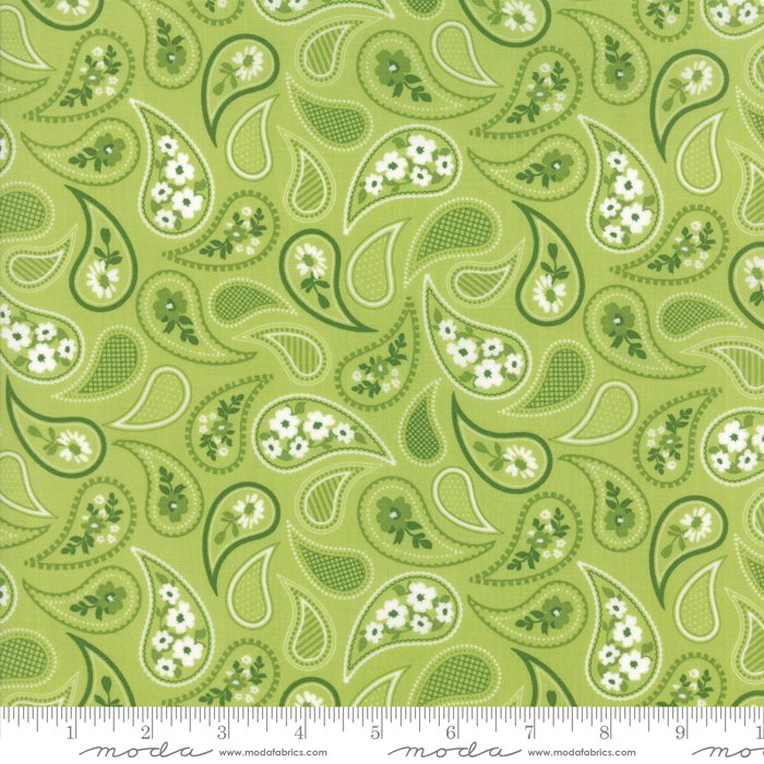 Mama's Cottage by April Rosenthal - Paisley - Lime - Moda 24052 29
