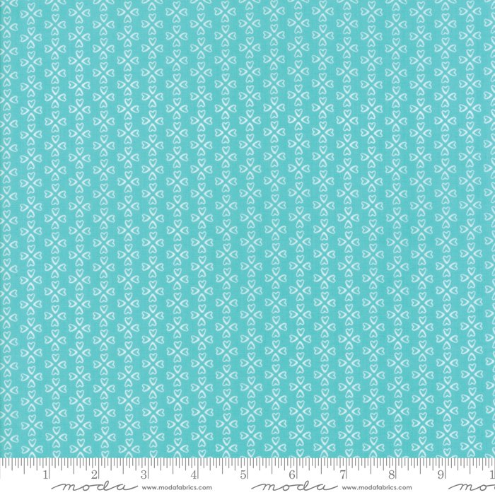 Mama's Cottage by April Rosenthal - Floral - Aqua - Moda 24055 33