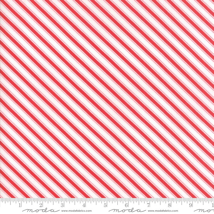 Mama's Cottage by April Rosenthal - Stripe - Red - Moda 24056 11