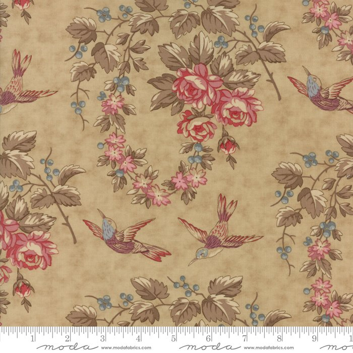 At Home by Blackbird Designs - Floral - Tan - Moda - 2790 12