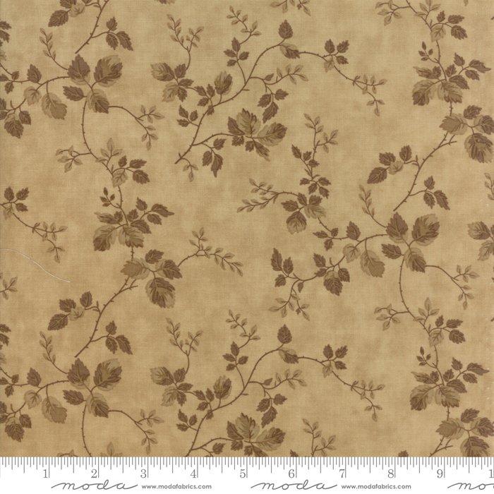 At Home by Blackbird Designs - Floral Vine - Tan - Moda - 2792 25