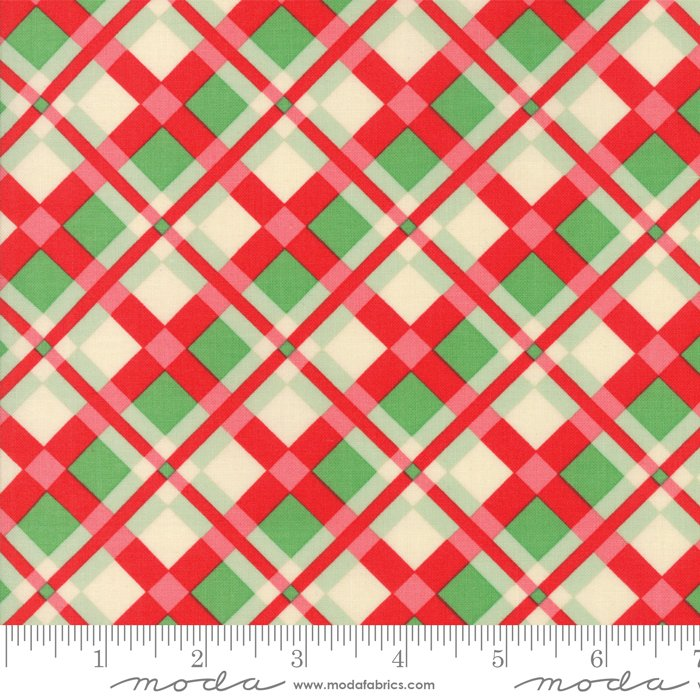 Swell Christmas by Urban Chiks - Christmas Plaid - Red/Green - Moda 31122 11