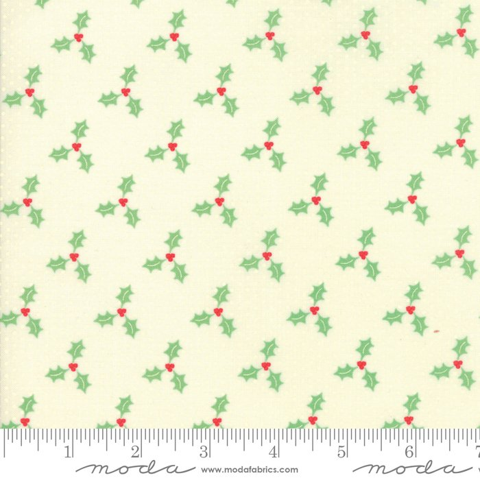 Swell Christmas by Urban Chiks - Christmas Holly - Natural - Moda 31126 21