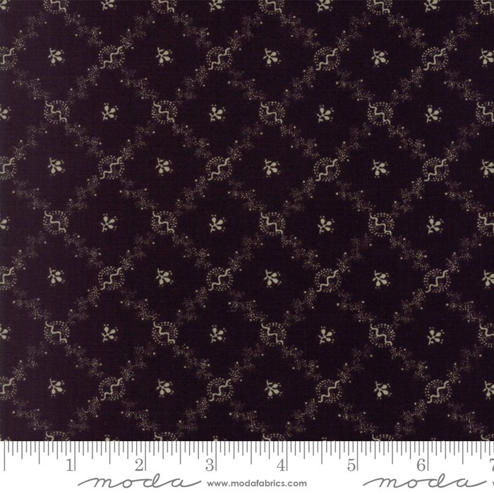 Evelyns Homestead by Betsy Chutchian - Reproduction 1880-1900 - Black/Navy - Moda 31566 11FQ - Fat Quarter