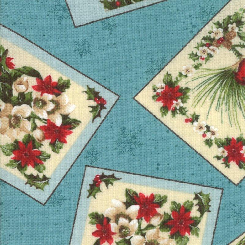 Seasons Greetings by Sentimental Studios - Ice Blue - Moda - 32801 14