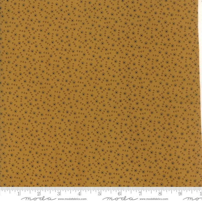 New Hope by Jo Morton - Reproduction - Tossed Dot - Gold - Moda 38035 15FQ - Fat Quarter