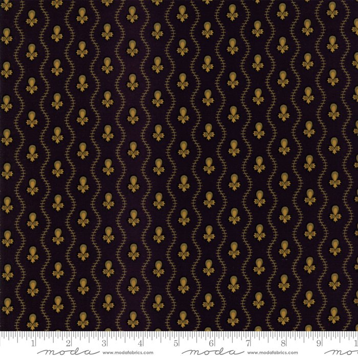 New Hope by Jo Morton - Reproduction - Wavy Stripe - Black - Moda 38037 17FQ - Fat Quarter