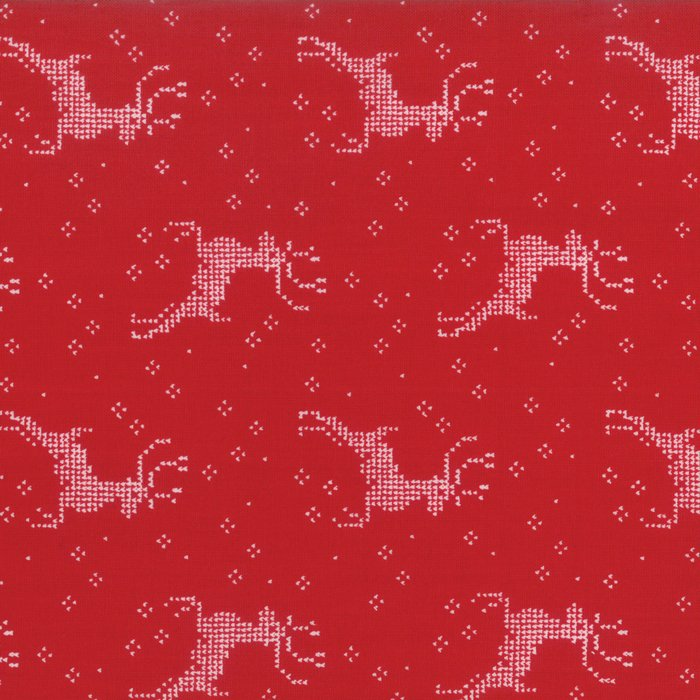 Nordic Stitches by Wenche Wolff Hatling of Northern Quilts - Reindeer - Red - Moda 39712 15