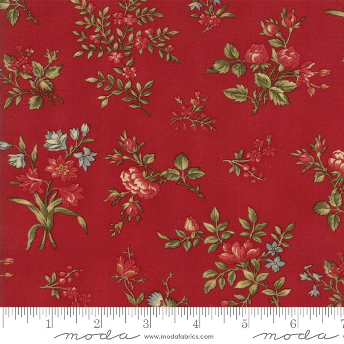 Rosewood by 3 Sisters - Floral Garden Flower  - Cherry - Moda 44184 16FQ - Fat Quarter