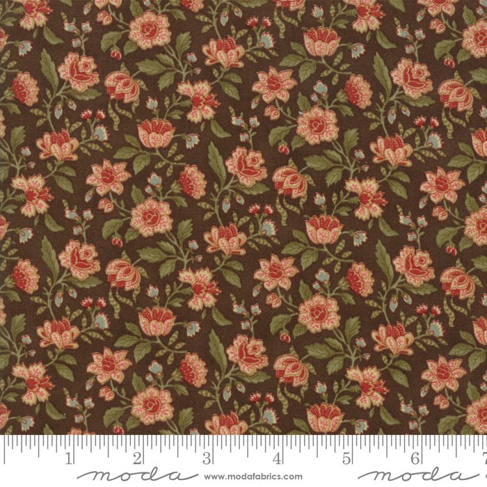 Rosewood by 3 Sisters - Floral - Chocolate - Moda 44186 13FQ - Fat Quarter
