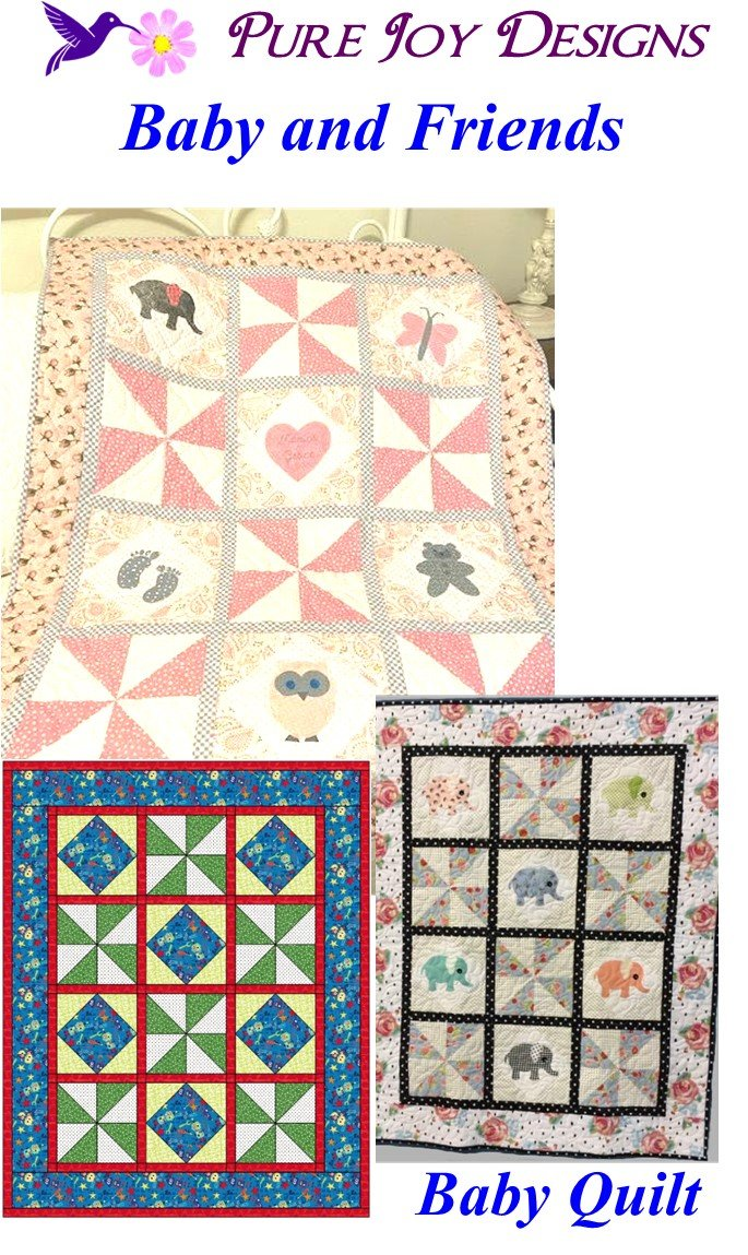 Baby and Friends Baby Quilt Pattern