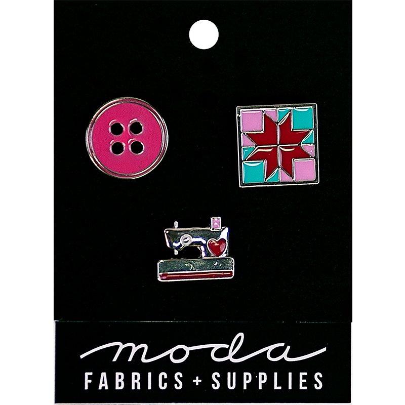 Enamel Pins - Pink - Set of 3 - Moda J804171215