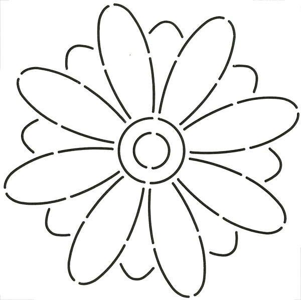 Stencil - Quilt Stencil Floral Block