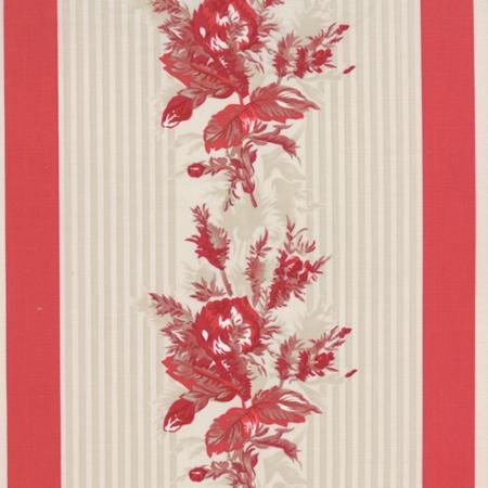 Moda - Miss Scarlet 14811-12 Border Stripe Red