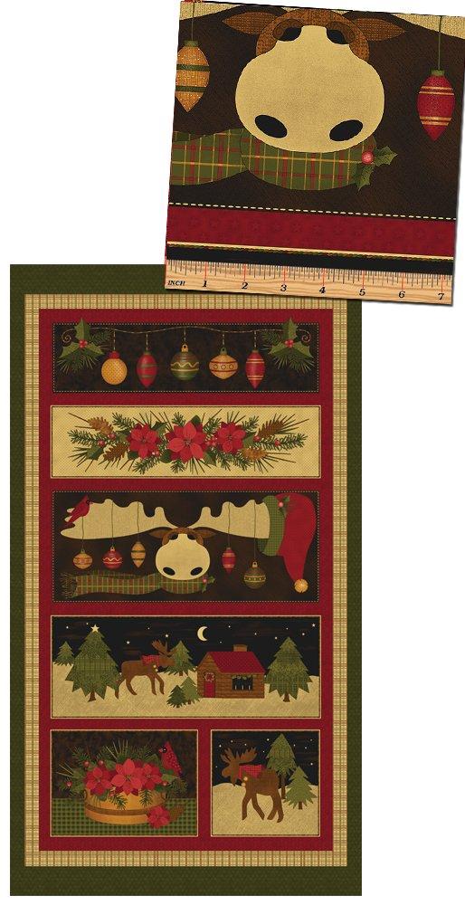 Moose for Christmas PANEL