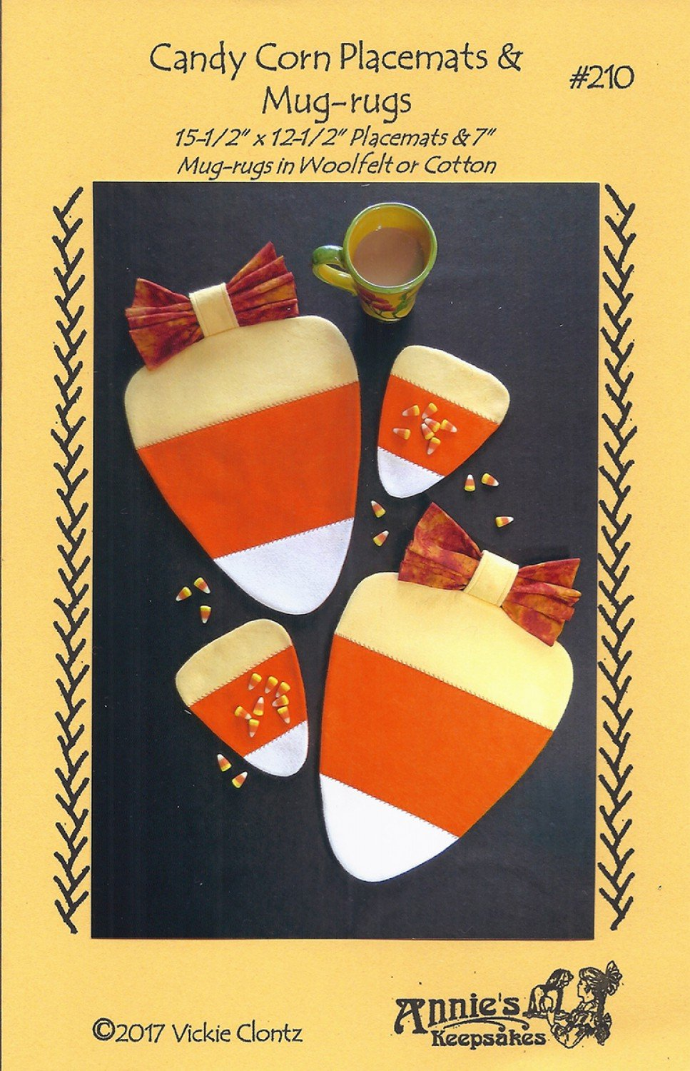 Candy Corn Placemats & Mug-Rugs Pattern