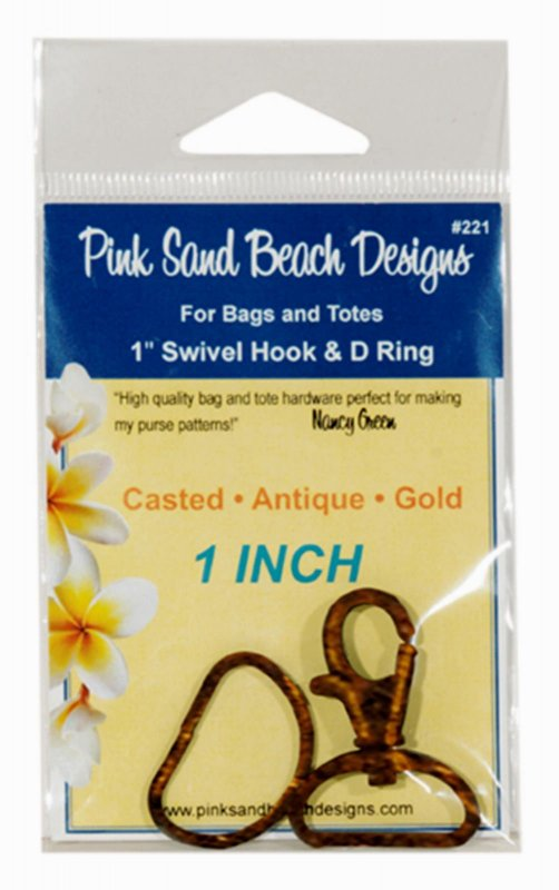 Swivel Hook & D Ring - Antique 1