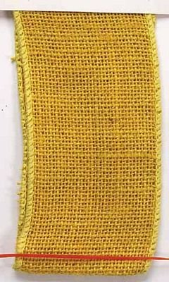Ribbon, Burlap WE 1-1/2, Yellow