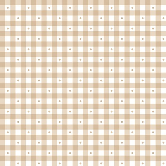 QT Sorbets 23691-A Light Taupe Gingham