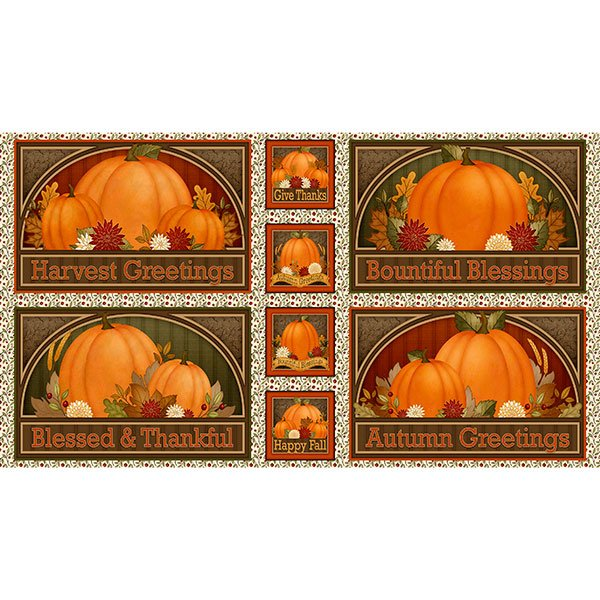 Harvest Greetings Picture Patches PANEL