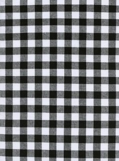 Cotton Steel - 5091-01 Checkers Gingham Black