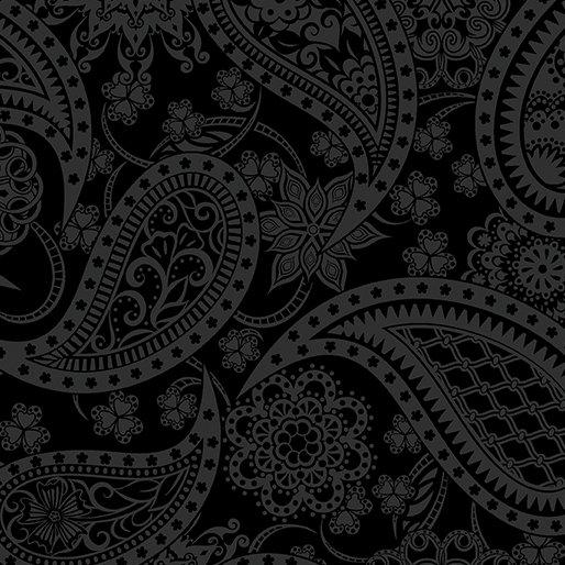 Benartex - Wide Paisley Black (108) 5490-12