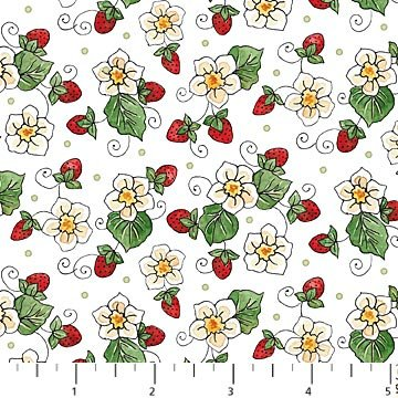 Northcott - Strawberry Patch 7014-24