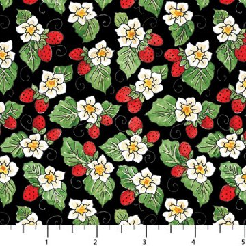 Northcott - Strawberry Patch 7015-99