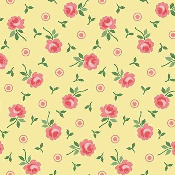 Benartex - Sunny Days - Yellow Little Roses