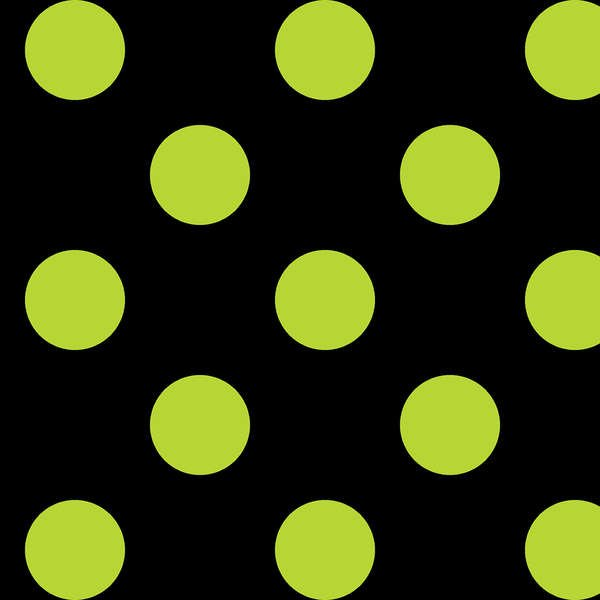 Maywood - Mind Your Mummy MAS8216-JG Black-Lime 1in Dots