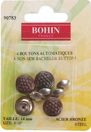Bachelor Button Antique Brass